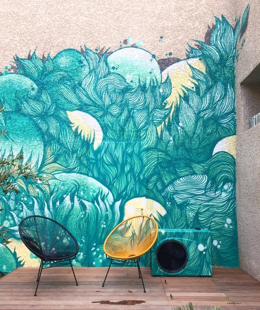 Fresque par Maison·g x Wenc pour l'Augusterie, Lyon