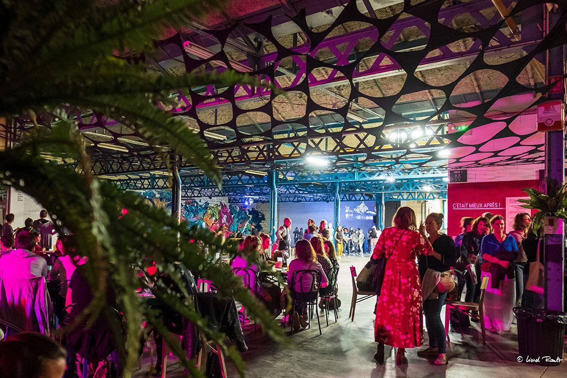 Les Halles du Faubourg, projet d'occupation temporaire à Lyon créé par Taverne Gutenberg x Maison·g (agence artistique) —Photo Lionel Rault