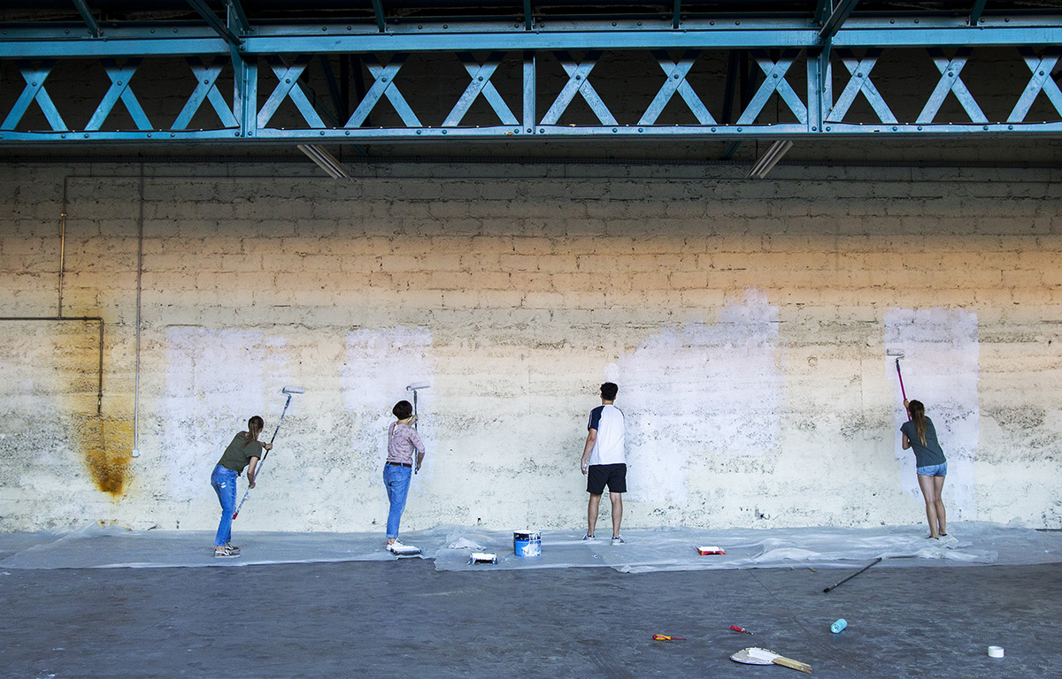 Les Halles du Faubourg, projet d'occupation temporaire à Lyon créé par Taverne Gutenberg x Maison·g (agence artistique)
